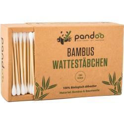 Pandoo Bambus-Wattestäbchen, 200 Stück