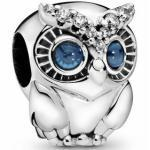 Pandora 798397NBCB - Owl - Eule Sterling Silber charms + hell Kobaltblau Kristall & Zirkonia