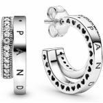 Pandora - Creolen - Pavé Double Hoop - Silber - 299056C01