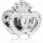 PANDORA - Doppelherzen gekrönten Herzen Silber charms - 797670