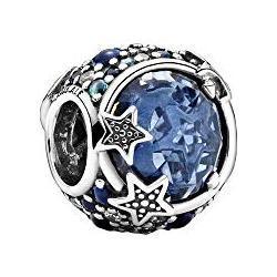 Pandora Himlische Blaue Funkelnde Sterne Charm Sterling-Silber 12 x 11,8 x 11 mm (T/H/B)