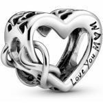 Pandora Silber Charm - 798825C00 - Herz und Unendlichkeit