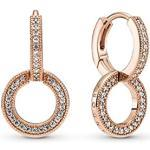 Pandora Sparkling Double Hoop Earrings