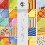 Paper Block Farben/Harle- kin,20 Blatt, 30,5x30,5cm