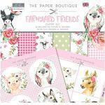 Paper Boutique PB1346 Paper Kit Farmyard Friends Papier-Set, Pinktöne, 244 x 244 cm