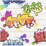 Papiertapete 272901 Kids&Teens 3 Graffiti Grau
