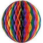 Papstar 10xWabenball Ø 30 cm Rainbow schwer entflammbar 4002911367681 (87659)