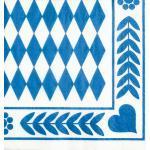"""Papstar 20 Servietten, 3-lagig 1/4-Falz 33 cm x 33 cm """"Bayrisch Blau"""" 4002911229019 (4002911229019)"""