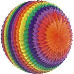 Papstar 3xStreifenball Ø 50 cm Rainbow schwer entflammbar 4002911293966 (19396)