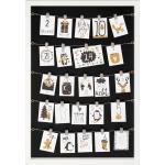 Paradies Bilderrahmen / Adventskalender 60x40 cm weiß mit 24 Clips (1 St)