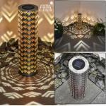 Parikia Solarleuchte LED Silber, Kupfer, 1-flammig - Landhaus/Vintage - Außenbereich - versandfertig innerhalb von 2-4 Werktagen
