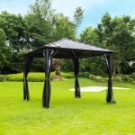 Pavillon Azur I Gartenpavillon, Partyzelt - Home Deluxe