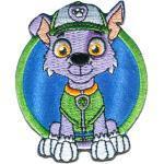 PAW PATROL Aufnäher, Polyester, Paw Patrol © ROCKY - Aufnäher, Bügelbild, Aufbügler, Applikationen, Patches, Flicken, zum aufbügeln, Größe: 7,3 x 6 cm