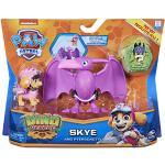 PAW PATROL Dino Rescue Action Pack | Set mit Spielfigur und Dinosaurier, Figur:Skye