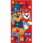 PAW PATROL Duschtuch »Kinder Strandtuch mit Chase & Marshall, 70x140 cm, rot«