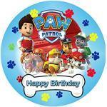 Paw Patrol, Essbares Tortenbild mit Wunschbild, Tortenaufleger Ø 20cm - Super Qualität, 3817a