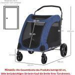 PawHut® Hundebuggy Hundewagen Hundeanhänger Hundetasche klappbar Blau+Schwarz