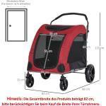 PawHut® Hundebuggy Hundewagen Hundeanhänger Hundetasche klappbar Rot+Schwarz