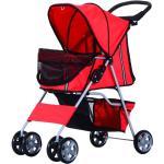 PawHut® Hundewagen Hundebuggy Hunde Pet Stroller Buggy 4 Farben 3/4 Räder - rot