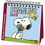 Peanuts - Postkartenkalender - Wochenkalender 2019 - Heye-Verlag - Aufstellkalender mit 53 heraustrennbaren Postkarten - 16 cm x 16,5 cm