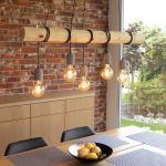 Braune Spot-Light Deckenleuchten & Deckenlampen aus Massivholz