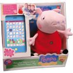 PEPPA PIG - Interaktives Plüschtier mit Tablet Peppa Pig (Stimme auf Spanisch)