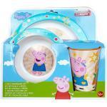 Peppa Pig Kinder Geschirr Teller Schüssel Becher im Geschenkkarton...