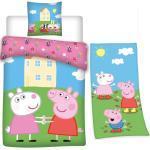 Peppa Pig Kinderbettwäsche » - Peppa Wutz - Bettwäsche-Set, 135x200 cm und Badetuch, 75x150 cm«, 100% Baumwolle