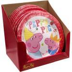 Peppa Pig Partyteller 96 Stück Pappteller 18cm Peppa Wutz