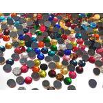 Perlin 2500 Stück, Hotfix Strasssteine, Mix Farben Größenauswahl 3mm 4mm 5mm Bunte AAA Qualität zum Aufbügeln Glitzersteine Rhinestone Selbstklebend Mehrfarbiges (2,6mm ' 3mm SS10)