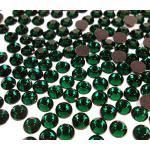 Perlin 720 Stück Hot Fix 6mm Glas Flache Rückseite Strasssteine SS30 HotFix Runde Kristall Edelsteine 5,5'6mm (Grün Olivine)