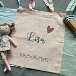 Personalisierter Beutel/Tasche Für Wechselkleidung Kindergarten Jutebeutel Kindergartentasche Kindergatenbeutel