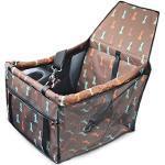 PETEMOO Hunde Autositz für Kleine Mittlere Hunde und Katzen, Atmungsaktive wasserdichte Sitzbezug mit Sicherheitsleine, kleine Hundewelpe Reise Auto Beschützer Tragetasche