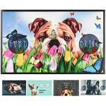 Pets Club Napfunterlage Hund Katze Futtermatte 49 x 79 cm Fressnapf Unterlage 8 Motive (Dog)