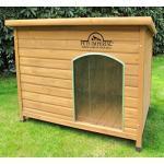 Pets Imperial® Große, isolierte Norfolk Hundehütte aus Holz mit entfernbarem Boden zur einfachen Reinigung DE