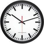 Peweta Funkwanduhr Bahnhofsdesign schwarz Ø 30cm