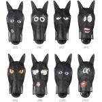 PFIFF Fliegenmasken »Gesichtsmaske«, in verschiedenen Motiven erhältlich, goldfarben, (65) schwarz-curry COB