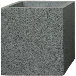 Pflanzkbel CUBE - (Granit Grau) - 28cm x 28cm x 28cm