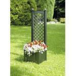Pflanztopf mit Spalier KHW Kunststoff 43x43x140 grün