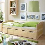 Pharao24 Bett mit Schubladen Kiefer