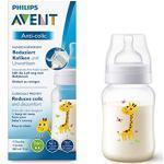 Philips Avent Anti-colic Flasche SCF821/12, 260ml, 1er-Pack, Giraffe, mit AirFree Ventil kompatibel