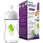 Philips Avent Natural Flasche SCF070/24, 260 ml, naturnahes Trinkverhalten, Anti-Kolik-System, Design Drache, 1er Pack
