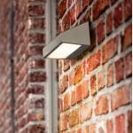 Philips myGarden Greenhouse LED Wandleuchte m. Dämmerungsschalter B: 18 H: 9 cm, edelstahl 178104716, EEK: A+