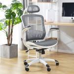 Reduzierte Weiße Bürostühle mit Kopfstütze mit Armlehne Breite 50-100cm, Höhe 100-150cm, Tiefe 0-50cm
