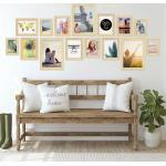PHOTOLINI Bilderrahmen »15er Set Modern 10x15 bis 21x30 cm Basic Collection«, beige, Natur