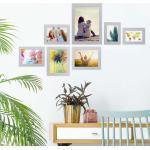 PHOTOLINI Bilderrahmen »7er Set Modern 10x15 bis 21x30 cm Basic Collection«, silberfarben, Silber