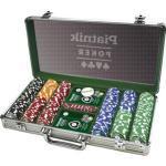 Piatnik Pokerkoffer 7903, 300 Pokerchips, Aluminium-Koffer, 2 Decks, Dealer Button, Würfel