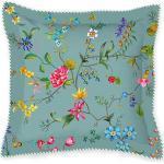 Pip Perkal Zierkissen Petites Fleurs, gefüllt blau 45x45 cm