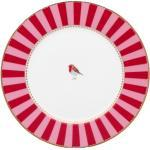 Pip Studio Love Birds Stripes Red-Pink - Teller 17 cm - 17 cm