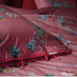 PiP Studio Perkal Bettwäsche Chinese Porcelain Pink Kissenbezug 40 x 80 cm